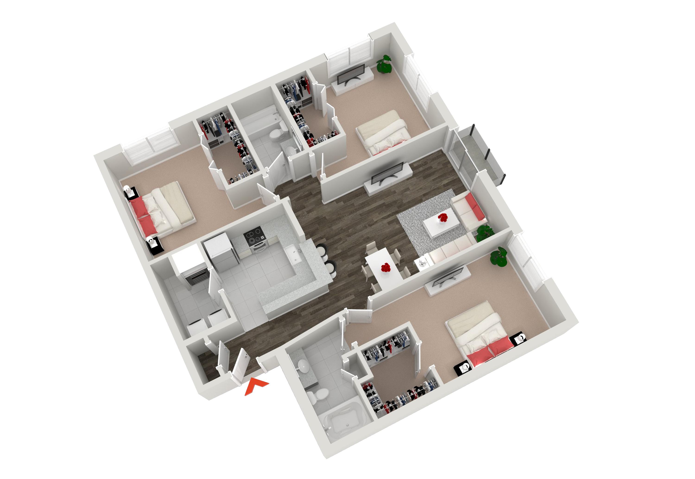 Inman park apartments n highland steel atlanta for 3 bedroom apartments atlanta